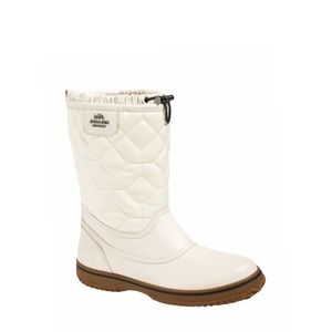 Coach Sparrow Cream Leather Winter Boots